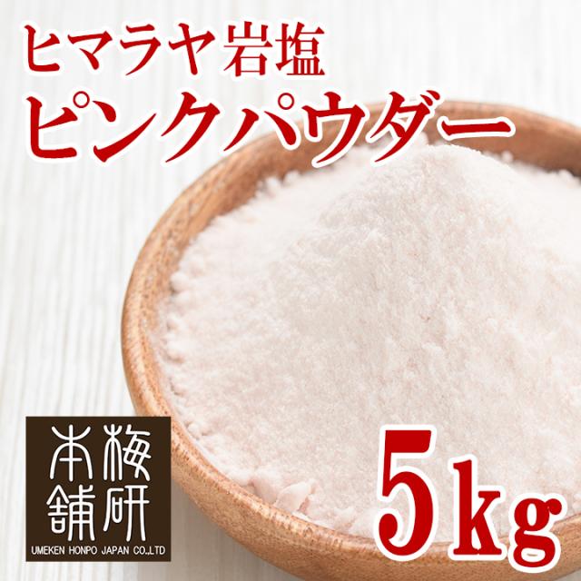 【食用】 ヒマラヤ岩塩 ピンク パウダー 5kg