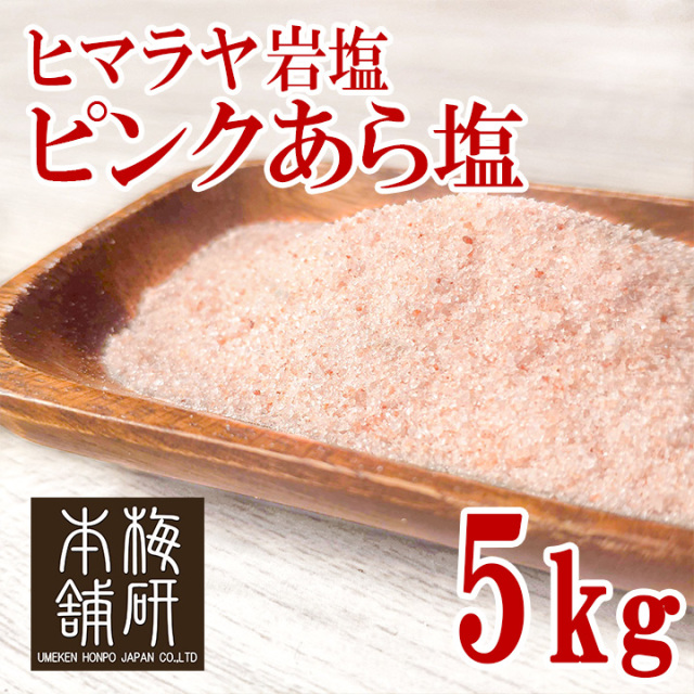 【食用】ヒマラヤ岩塩 ピンク あら塩 5kg