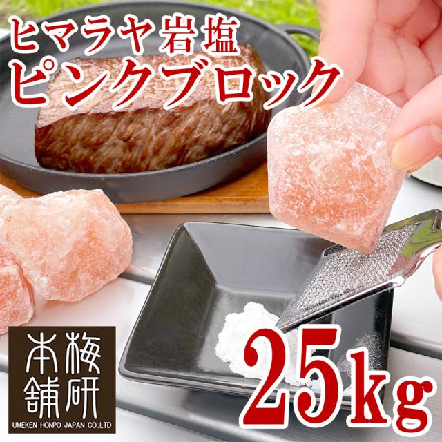 【食用】ヒマラヤ岩塩 ピンク ブロック 25kg 【1-10センチ前後】【送料無料】
