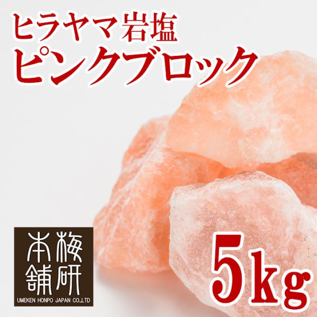 ヒマラヤ岩塩 ピンク ブロック 5kg  【食用】【1~10センチ前後】
