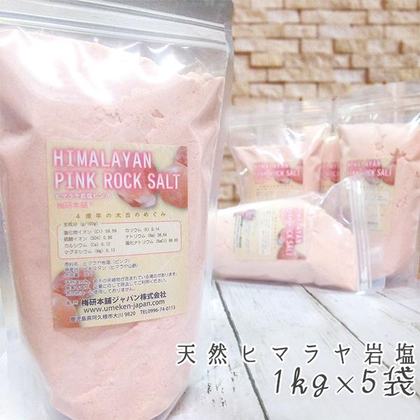 ヒマラヤ岩塩ピンクパウダー 1kg×5袋 【食用】