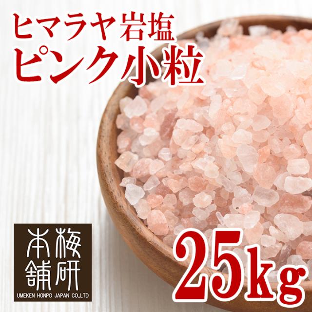 【ポイント10倍】【食用】 ヒマラヤ岩塩 ピンク 小粒 25kg