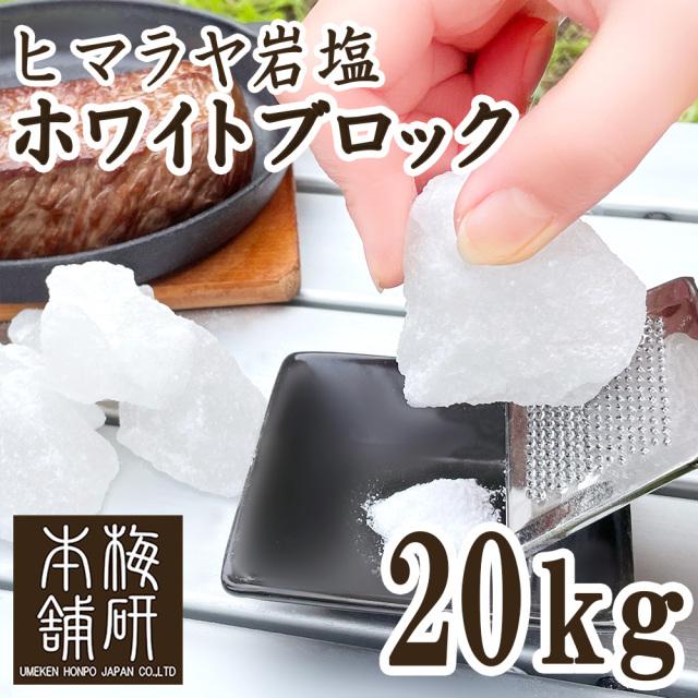 【ポイント10倍】【食用】 ヒマラヤ岩塩 ホワイト ブロック 20kg