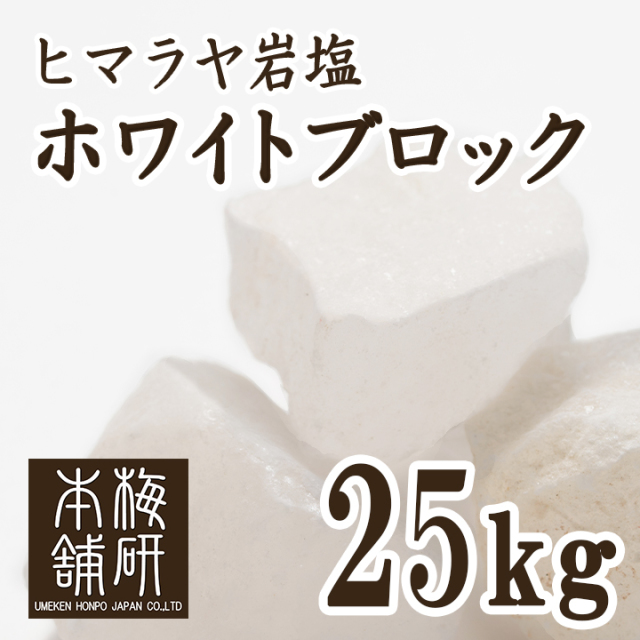 【食用】ヒマラヤ岩塩 ホワイトブロック 25kg 【送料無料】