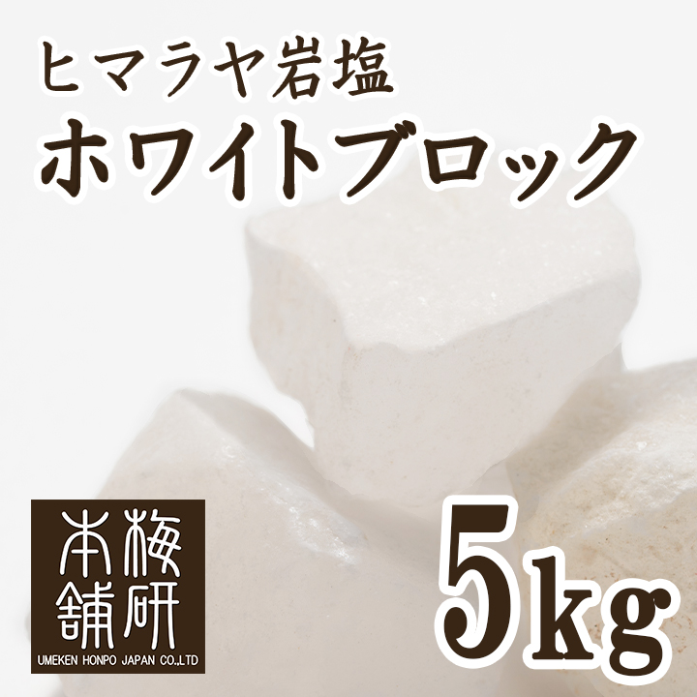 【食用】ヒマラヤ岩塩ホワイトブロック 5kg 【ホワイトソルト】