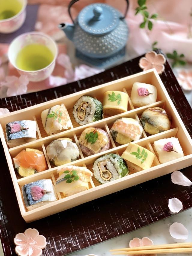 ◇冷蔵◇季節の手鞠わさび葉寿司 春(15個)★お願い★冷蔵品は、毎週月曜日着のご指定ができません。