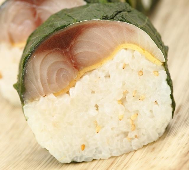 わさび葉丸棒寿司鯖