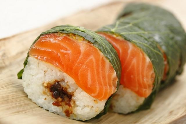 わさび葉丸棒寿司鮭