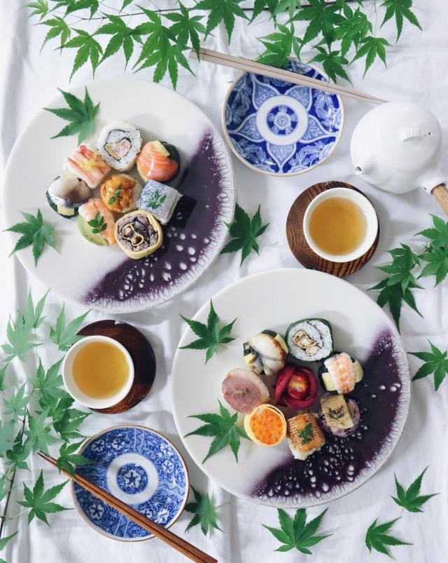 ◆冷凍◆限定割引!奈良の有機ほうじ煎茶と手鞠寿しのマリアージュ*夏のギフトに人気の手鞠寿しの詰め合わせとお茶のセット*お中元やお祝い事に!