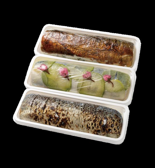 ◆冷凍◆3種の鯖の棒寿司ー春ー