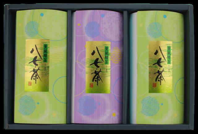 八女茶紋様3本セット