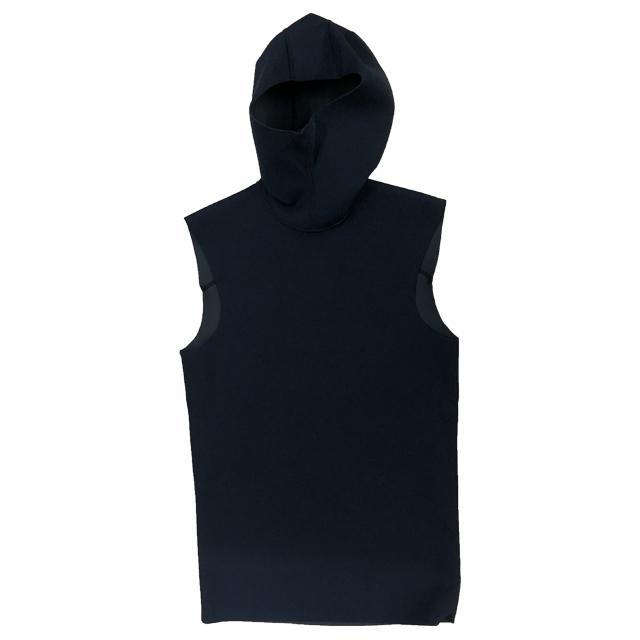 【エアースキン】ブラックメタリックス フードベスト メンズ(S、M、L、LLサイズ)
