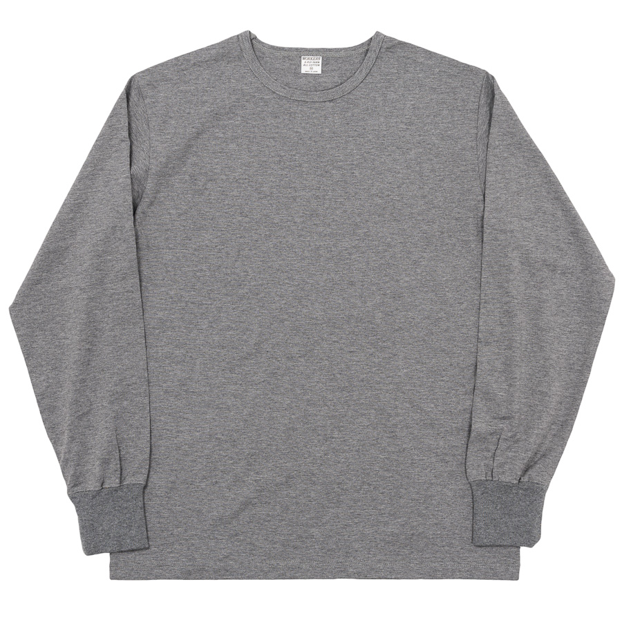 3-PLY Long Tee Crew Grey