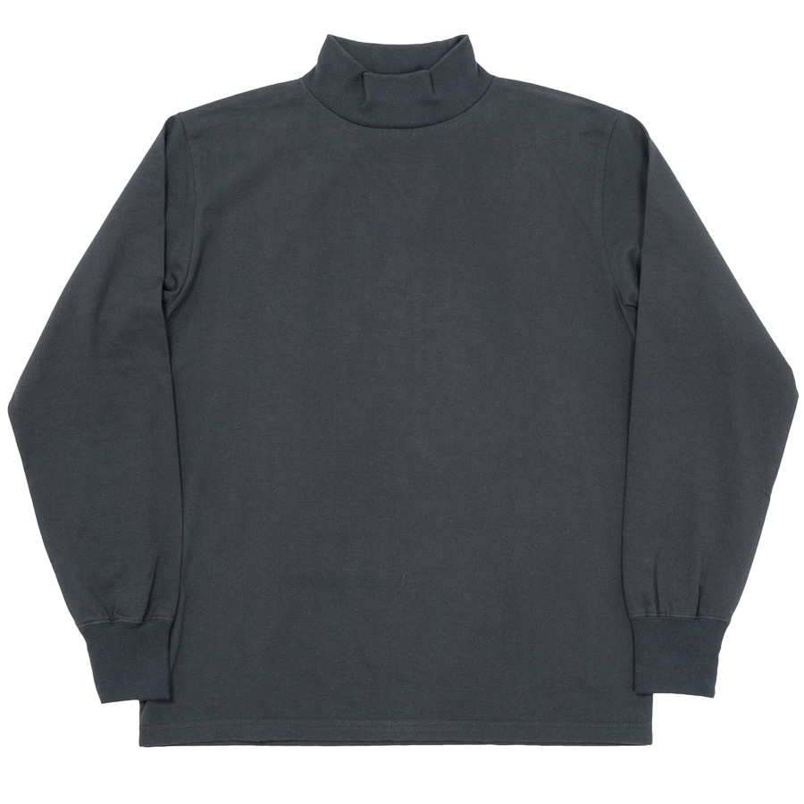 3-PLY Long Tee Mock Black