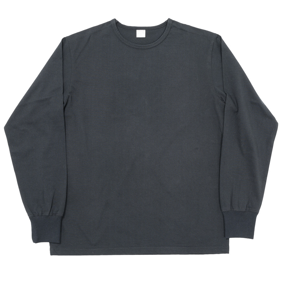 3-PLY Long Tee Crew Black