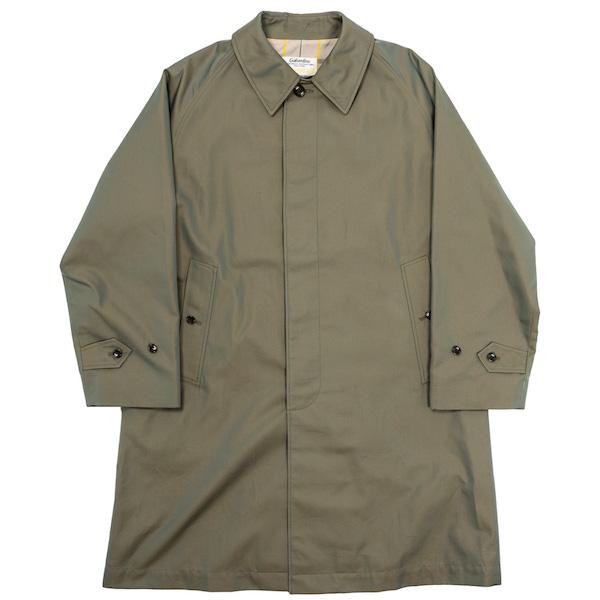Bal Collar Coat Cotton Gabardine Khaki