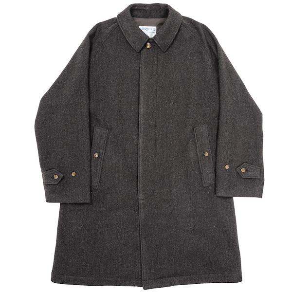 Bal Collar Coat Dark Brown Herringbone Tweed