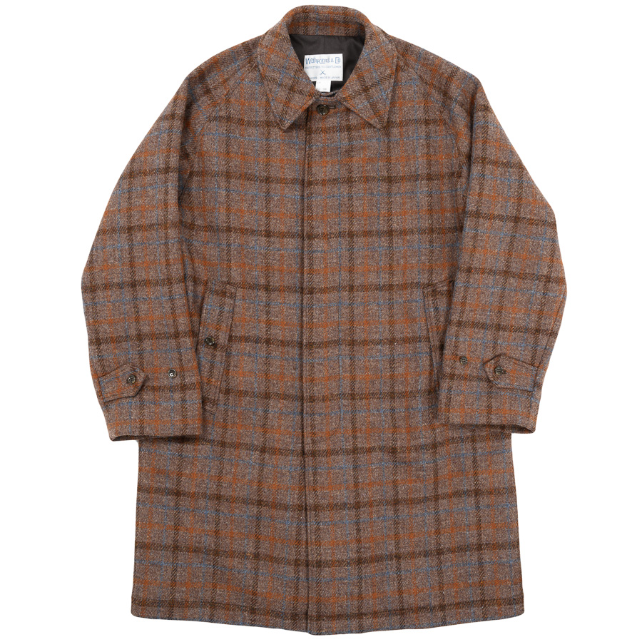 Bal Collar Coat Harris Tweed Brown