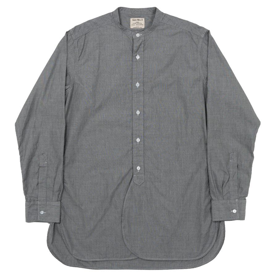 Band Collar Shirt Black