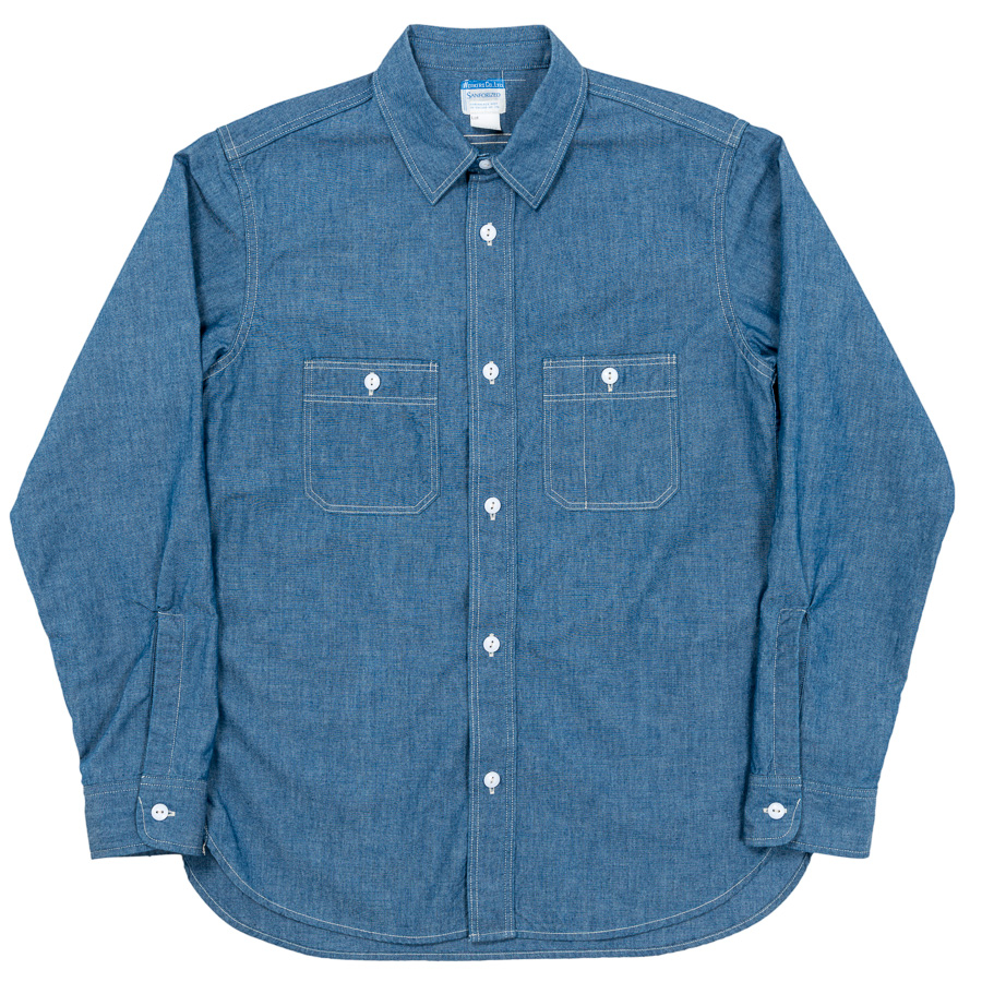 Basic Work Shirt Blue Chambray