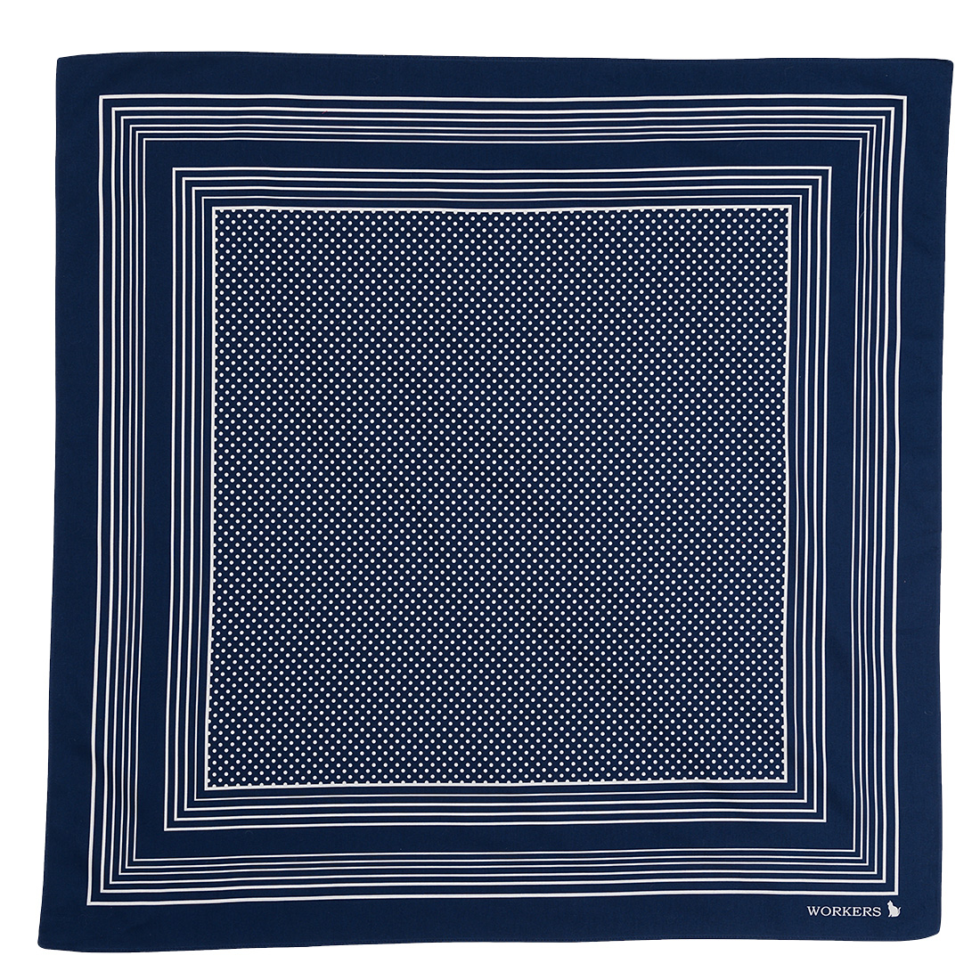 Cotton Sateen Scarf Blue Dot