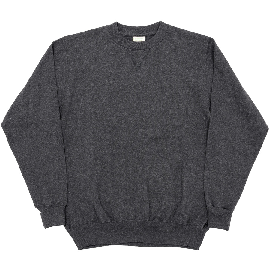 FC High Gauge Knit Crew Charcoal