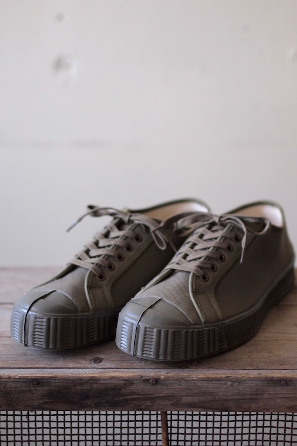 FERN Canvas Sneaker Army Type Low Cut Military Olive-1