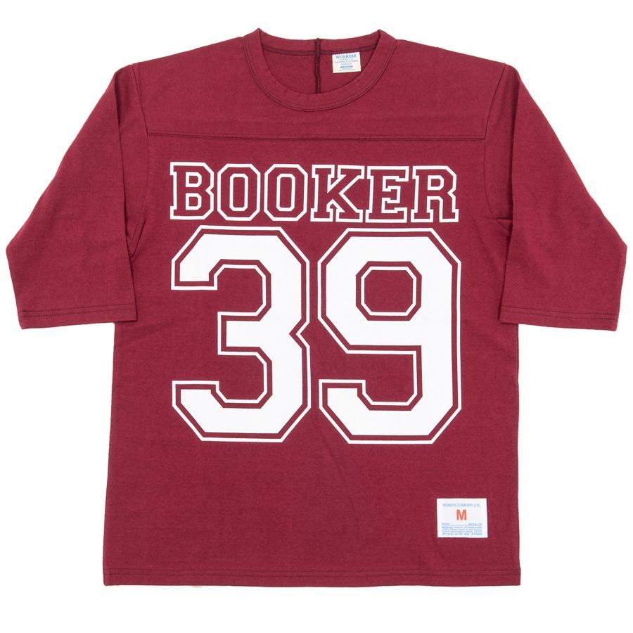 Football-Tee Booker 39 Burgundy