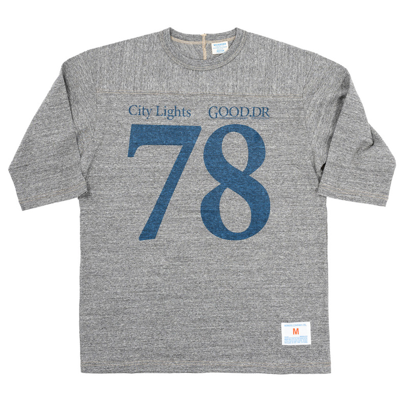 Football Tee City Lights Grey