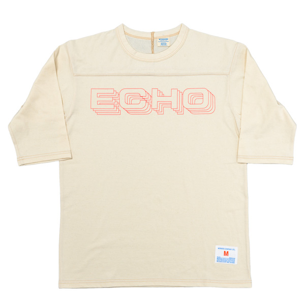 Football Tee ECHO Oatmeal