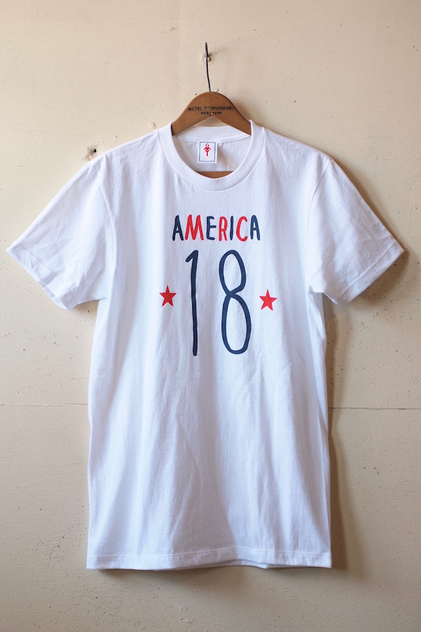 GMT Printed Tee America 18 White-1