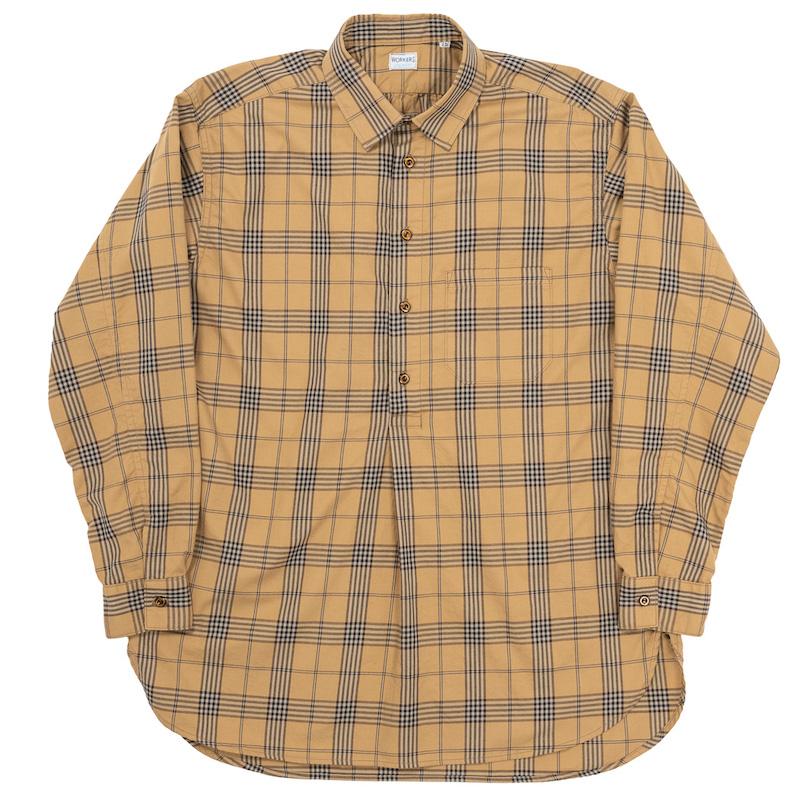 Grandpa Shirt Beige Check