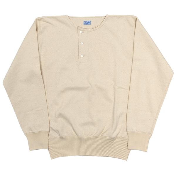 Henley Neck Sweater White