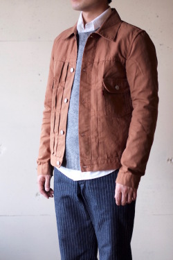 TCBjeans 50's JKT Zimbabwe Brown Duck-1