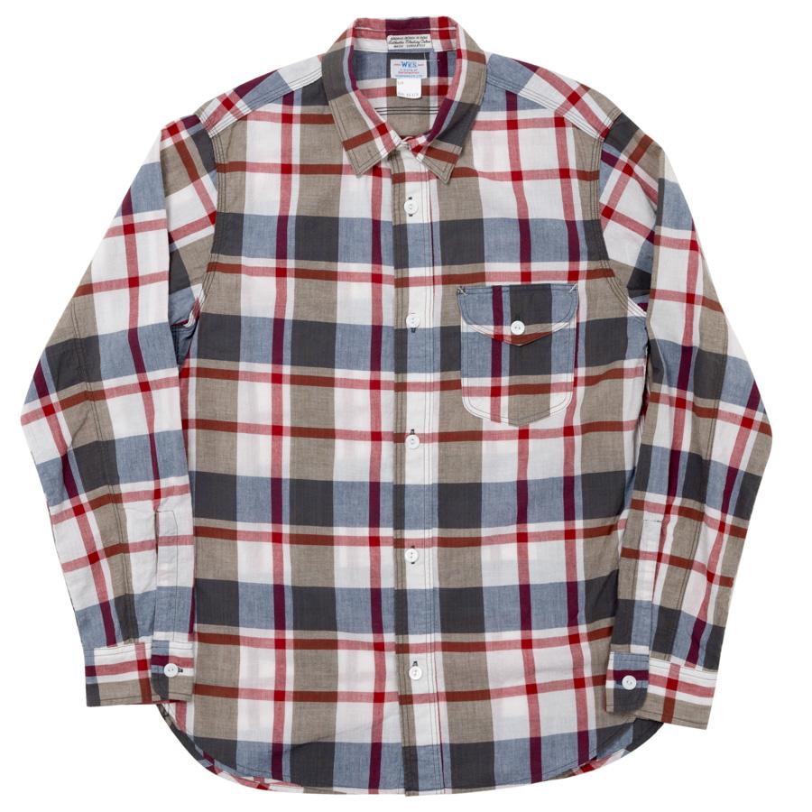 Lt. Work Shirt Red Madras
