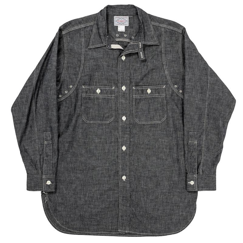 MFG Shirt V-Fit Black Chambray