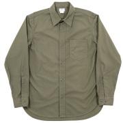 1-Pocket Work Shirt Olive Poplin