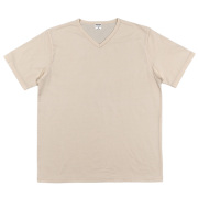 3-PLY Tee V Neck Oatmeal
