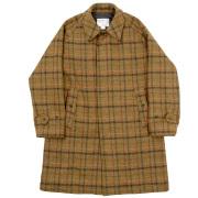 Bal Collar Coat Harris Tweed Olive
