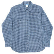 Basic Work Shirt Indigo Check