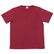 Crew Pocket Tee Burgundy