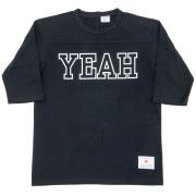 Football-Tee YEAH Black