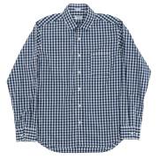 Narrow Round Collar Shirt Gingham