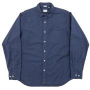 Narrow Round Collar Shirt Navy