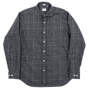 Round Cutaway Shirt Check Cotton Viyella