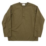Sleeping Shirt Long Sleeve Khaki Twill