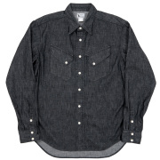 Western Shirt 8oz Black Denim OW