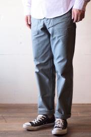 WORKERS Baker Pants Slim Fit Reversed Sateen Sage Green-1