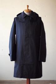 WORKERS Bal Collar Coat Gabardine Navy-1