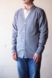 WORKERS FC Knit Medium Weight Cardigan Grey-1